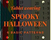 Halloween Tablet weaving patterns, create colorful belts and decorative ribbons, immediate download pdf patterns