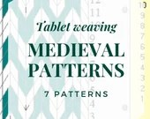 Medieval Tablet weaving patterns, based on Sforza's decorative Rotellas, chart to create colorful belts and dress bordures