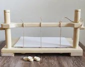 medieval bookbinding sewing frame, create your personal book, original and stunning gift