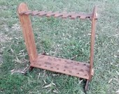 Medieval display for bows and swords, medieval historical reenactment furniture, gift idea for archers, middle ages camp archery equipment