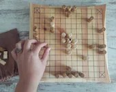 Viking board game completely handmade in fir wood, a perfect gift for your friends or original furnishing accessory