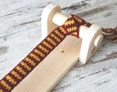 Portable tablet weaving loom, make your own belt and strings, medieval knitting, christmas original gift idea for crafters or reenactors