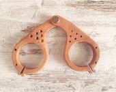 Medieval wooden frame for glasses, ideal for historical reenactment, accessories for writing and historical study