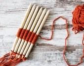 weaving stick set, size 8 mm, funny handweaving for kids