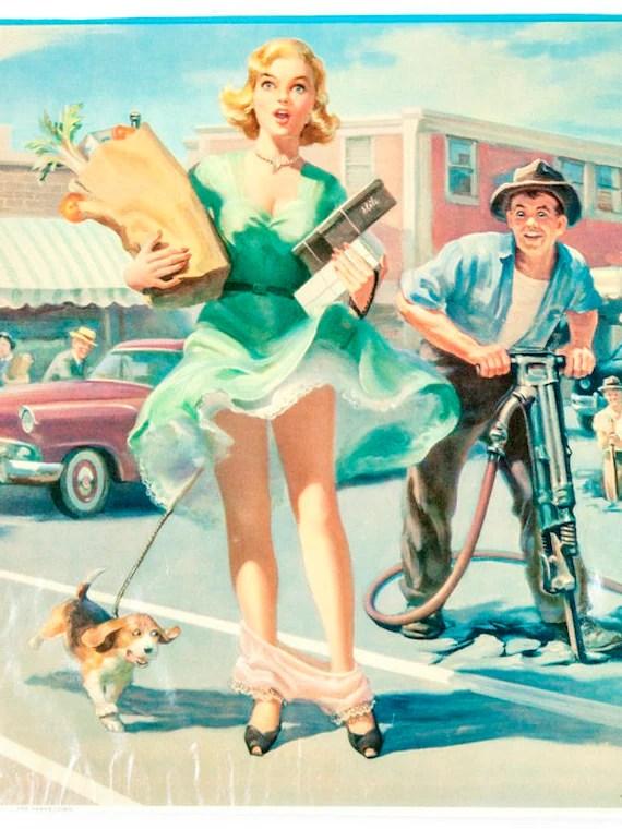 Vintage Art Work Vintage Original Advertisement Pin-Up   Etsy
