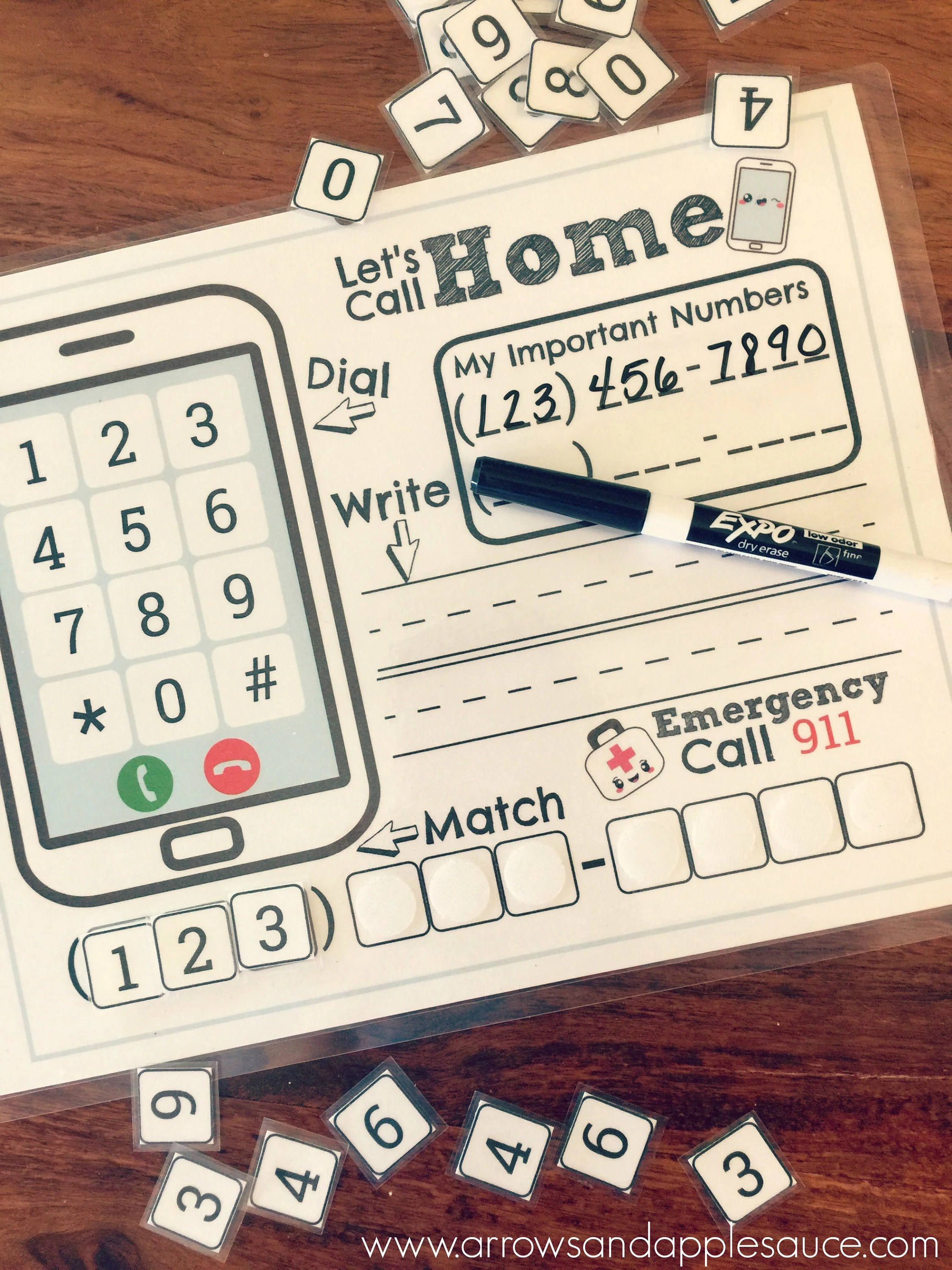 Phone Number Kids Activity Phone Number Practice About Me