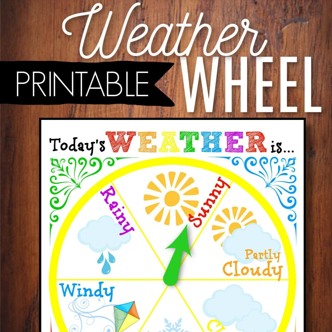 Weather Wheel Circle Time Game Weather Station Preschool