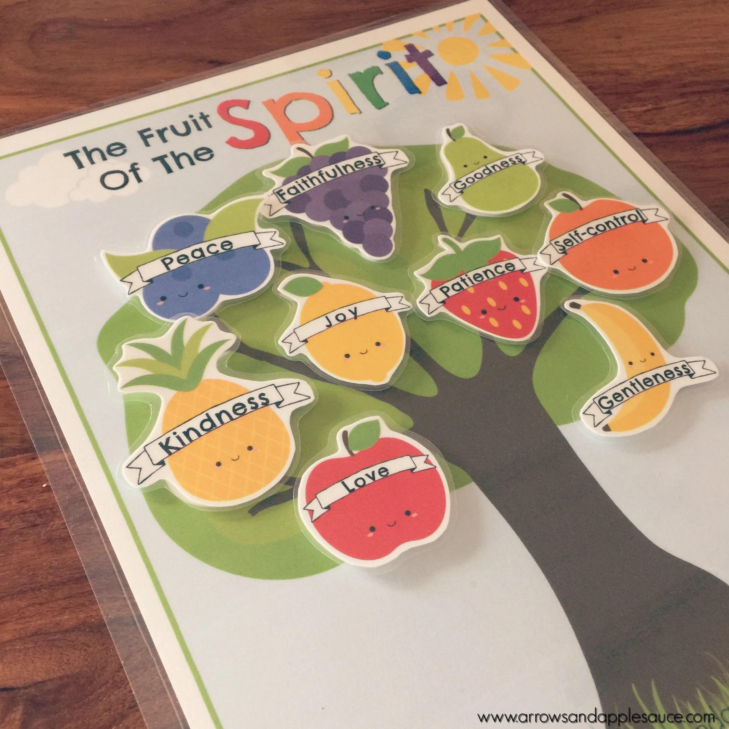 Fruit Of The Spirit Game Preschool Printable Bible Verse