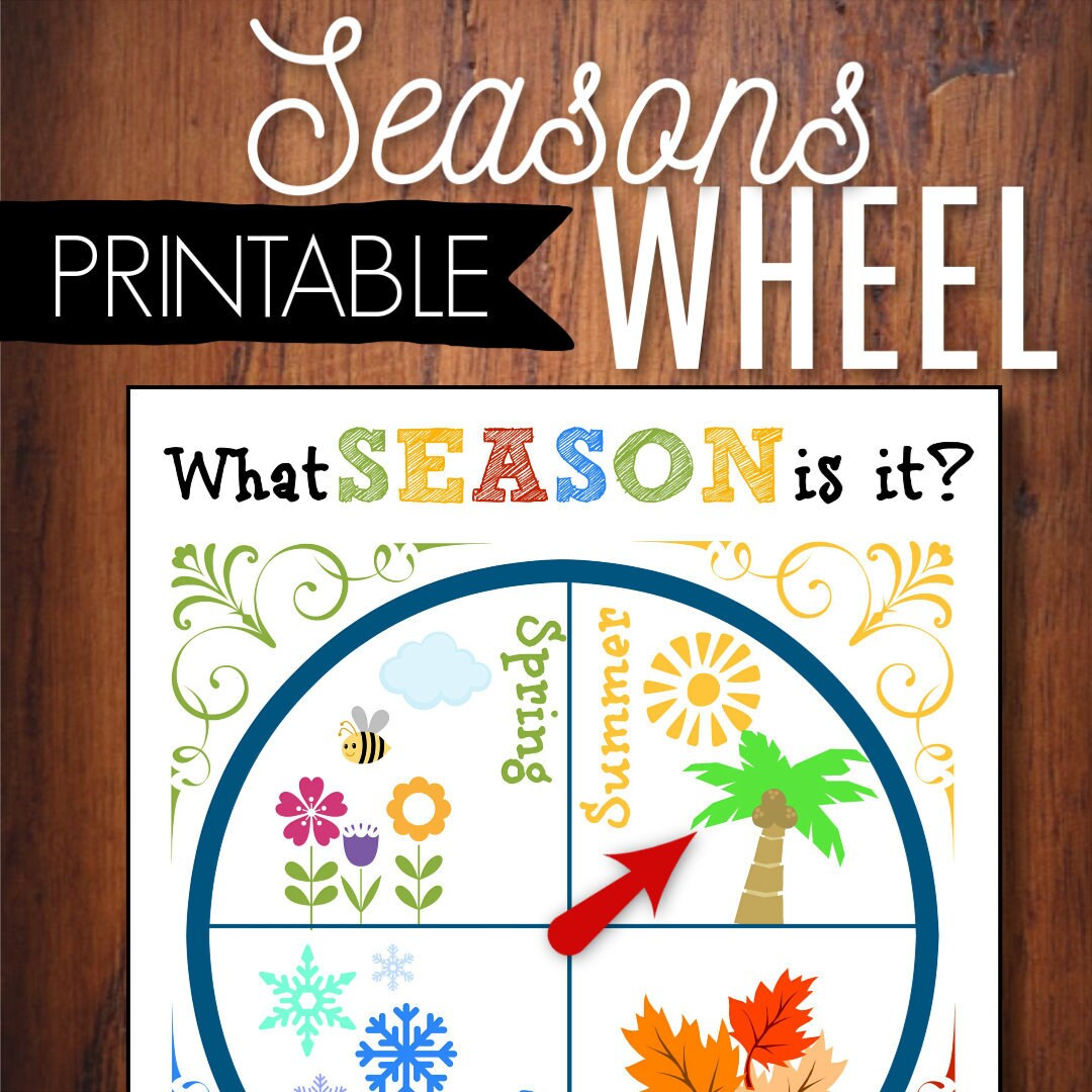 Seasons Wheel Printable Circle Time Learning Tool Spring