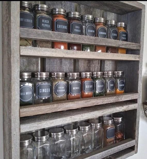 rustic mason jar spice rack display spice rack mason jars etsy