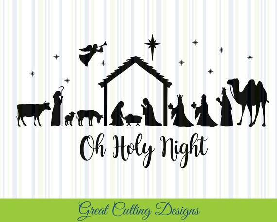 Download Nativity SVG Cut File Christmas svg DXF cut file Cricut ...