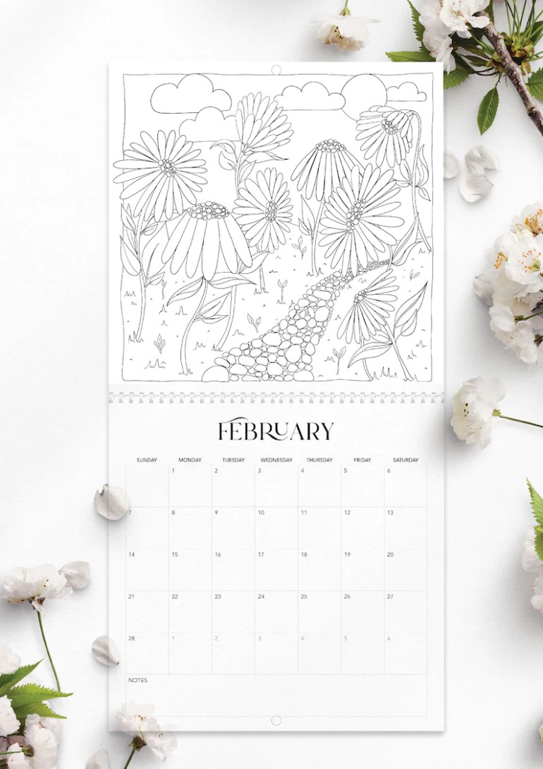 Enchanted Gardens 2021 Colouring Calendar image 1