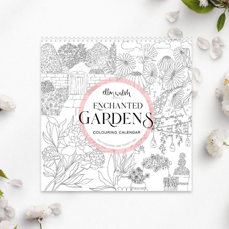 Enchanted Gardens 2021 Colouring Calendar image 0