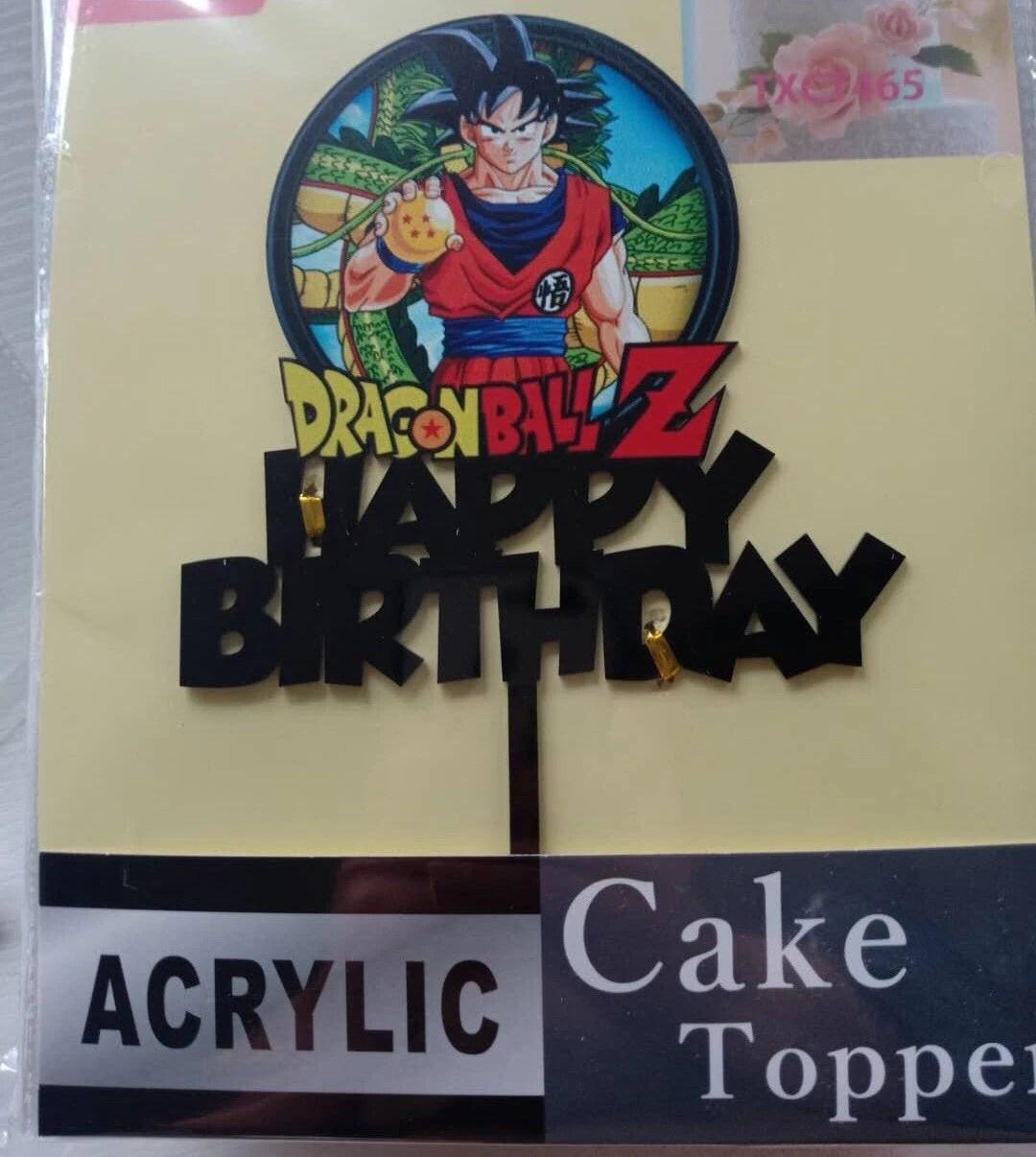 Dragon Ball Z Cake Topper Etsy