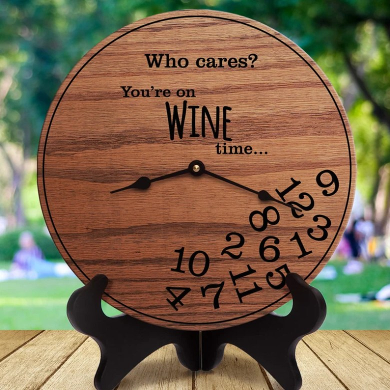 Who Cares Wine Clock by StoryCabin