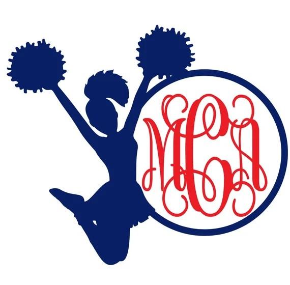 Download Items similar to Cheerleader Monogram on Etsy