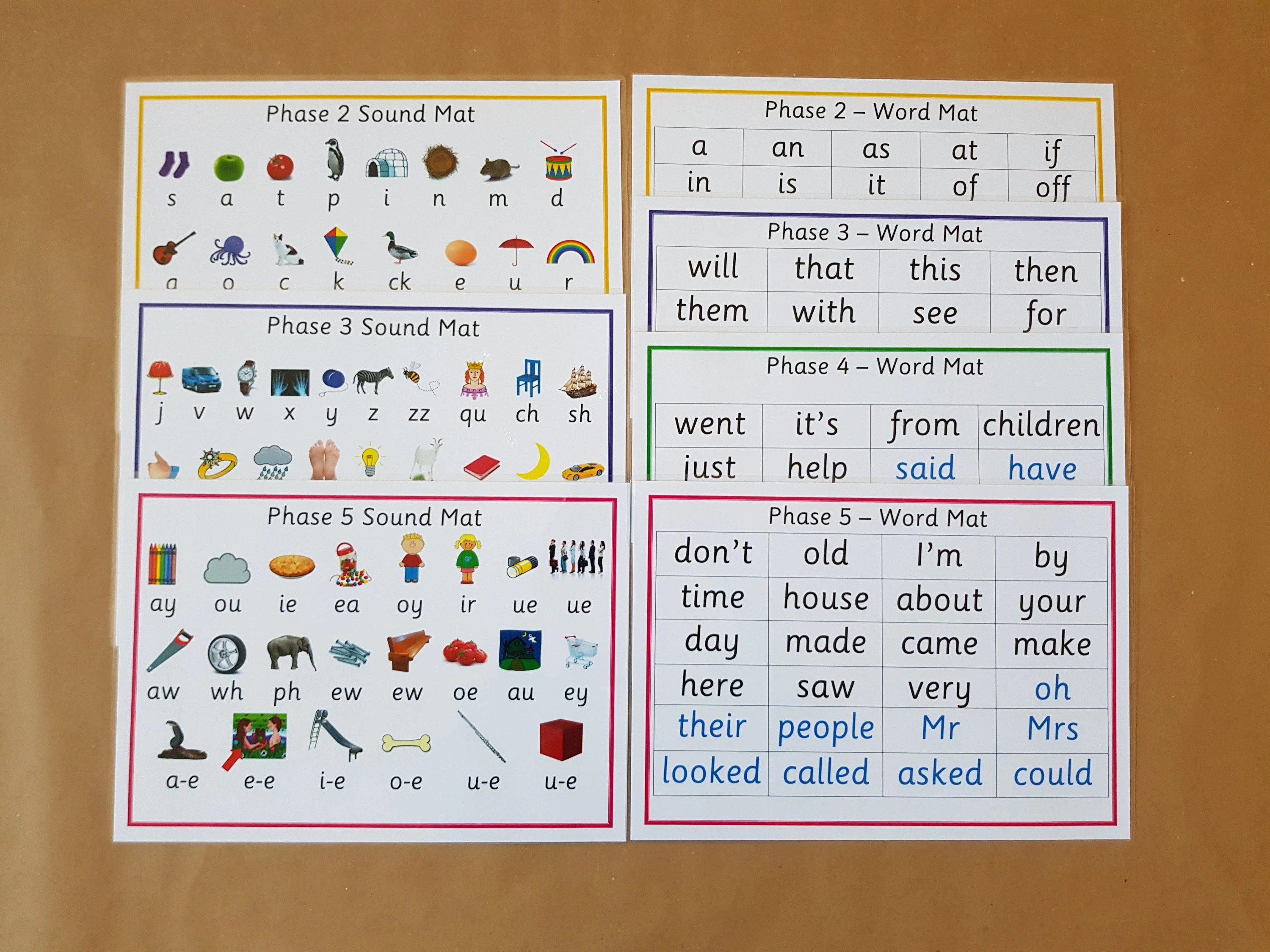 Letters And Sounds Phases 2 5 Word And Sound Mats Phonics