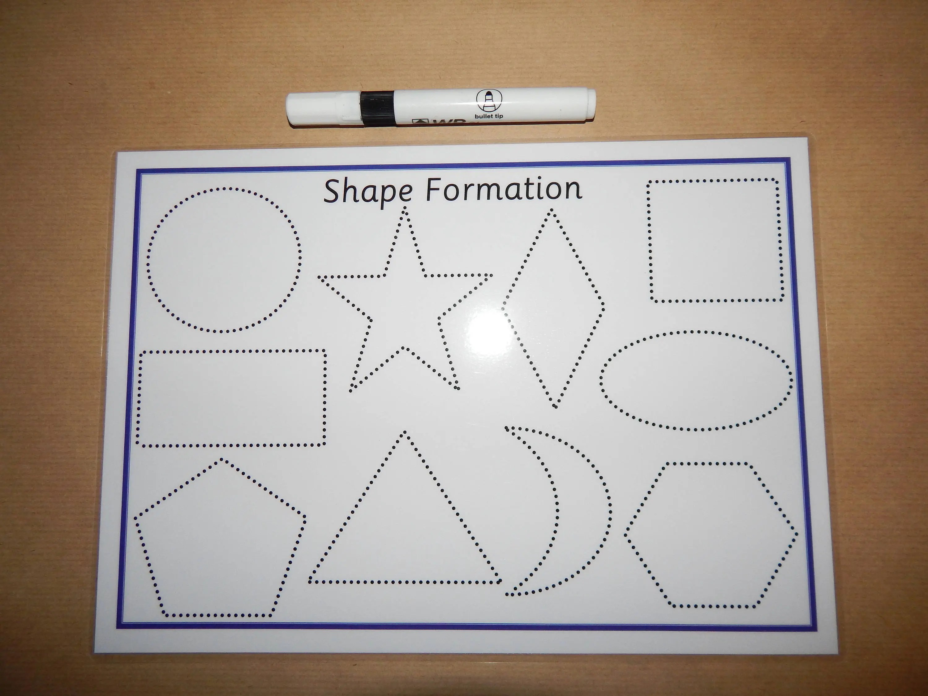 Tracing Shapes 2d Shape Formation Drawing Shapes A4