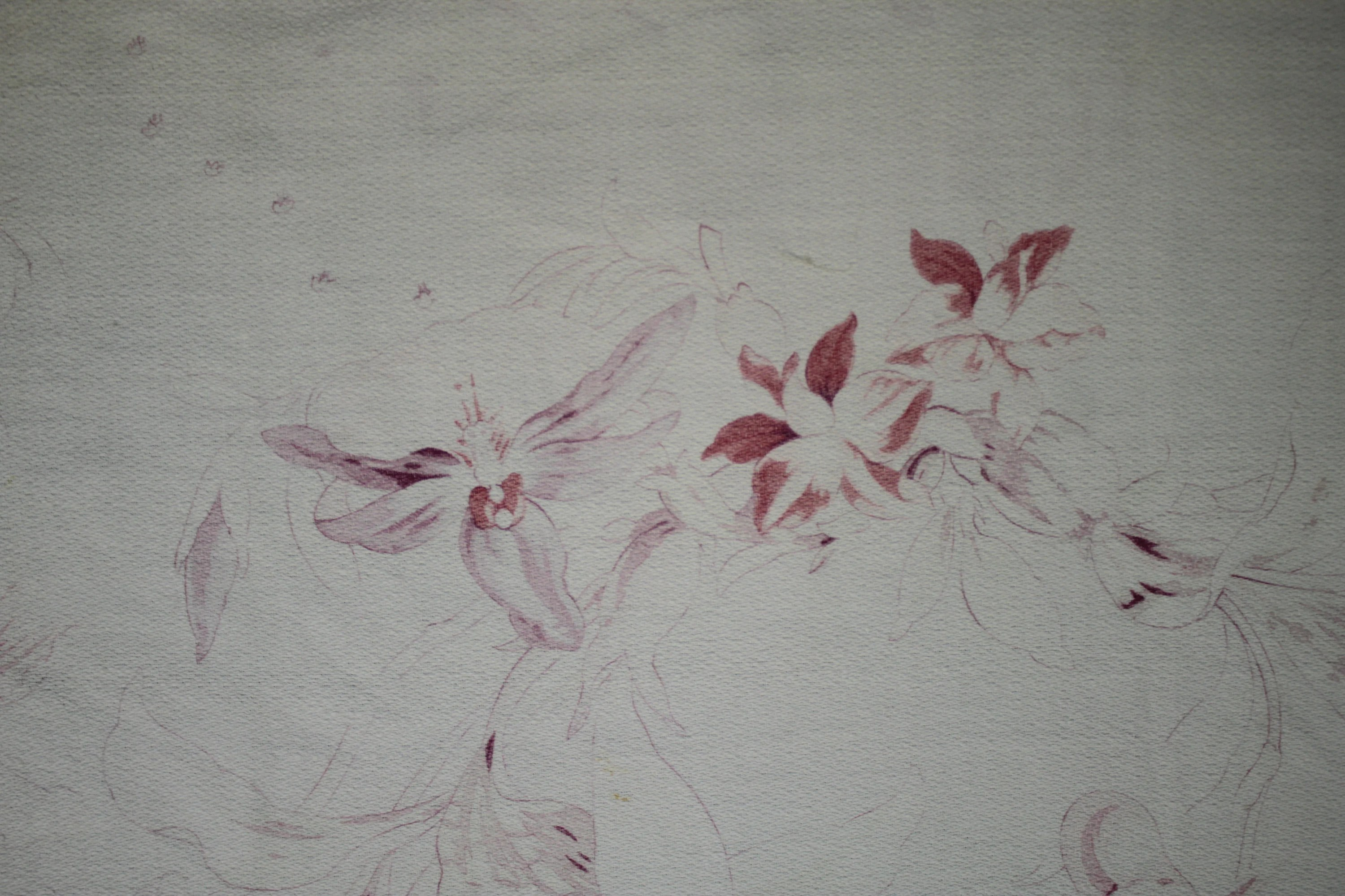 french fabric faded floral shabby chic