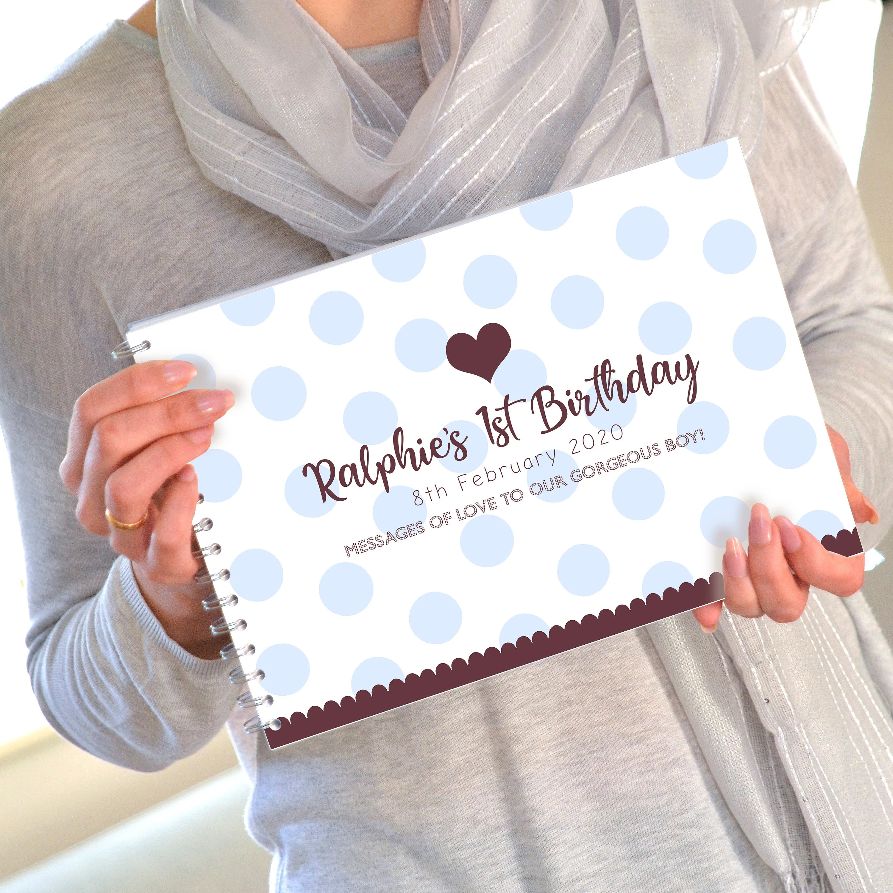 Personalised First Birthday Party Book 1st Birthday Gift Etsy