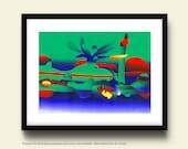 Gulf Coast Environmental Disaster, A Made To Order Fine Art Print by Ken Falana