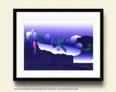 Interlude Fine Art Print Colorful Modern Art Made To Order by Ken Falana