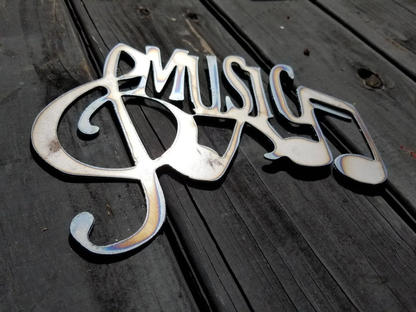 Music Notes Plasma Metal ...
