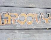 Groovy Word Hippie Retro ...