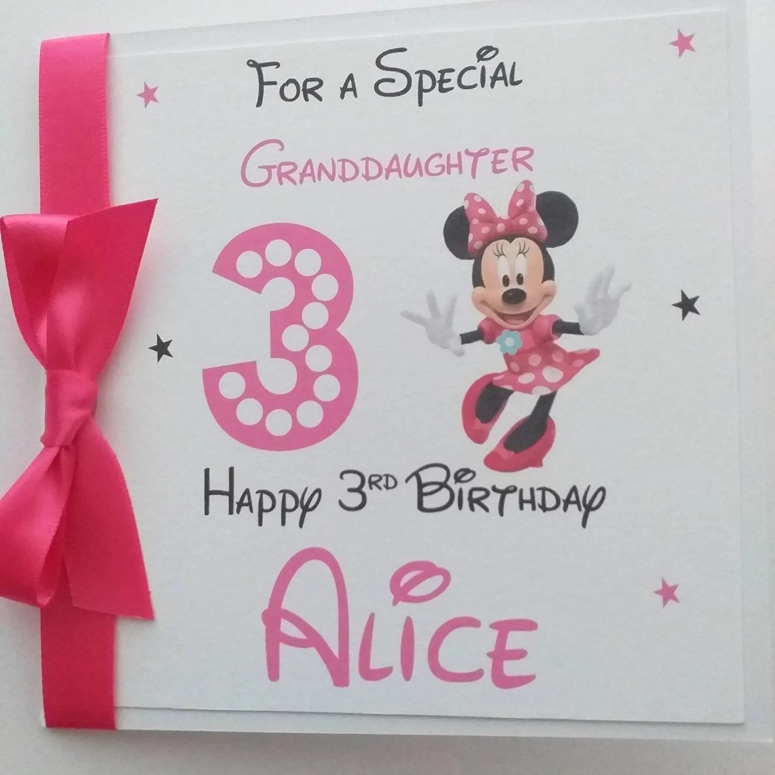 Minnie Mouse Card Etsy