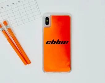 Neon Orange Etsy