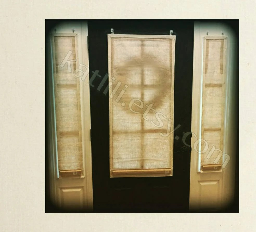glass door curtain etsy