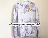 Tie Dye Hoodie with OPTIONAL patch (M)