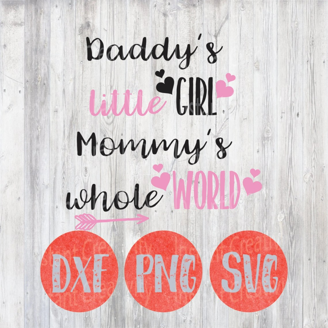 Download Daddy's Girl Mommy's Whole World SVG Father Daughter | Etsy