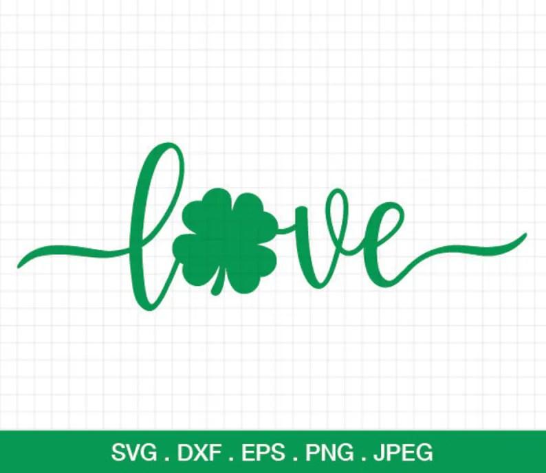 Download Love Shamrock svg Shamrock Love svg Shamrock Svg | Etsy