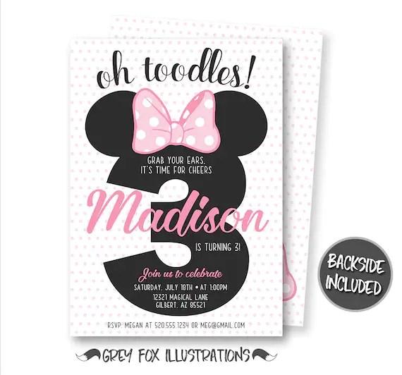 Minnie Mouse Birthday Invitation Minnie Mouse Invitation Minnie Mouse Party Minnie Mouse Personalized Digital Polka Dots Il 570xn