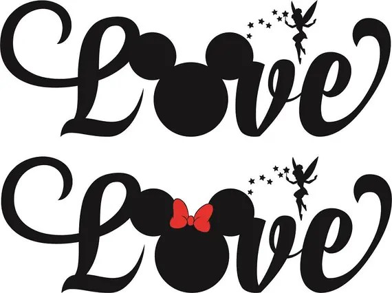 Download Love Mickey SVG Cutting file Cricut Laser engrave Cutting ...