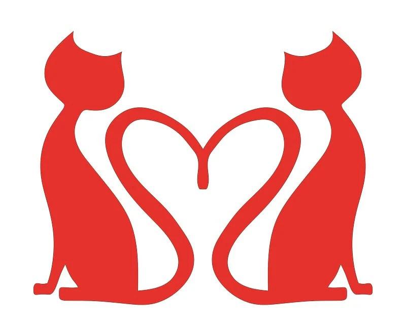 Download Cat Heart Love Stencil Cutout Template Cat svg Cat heart ...