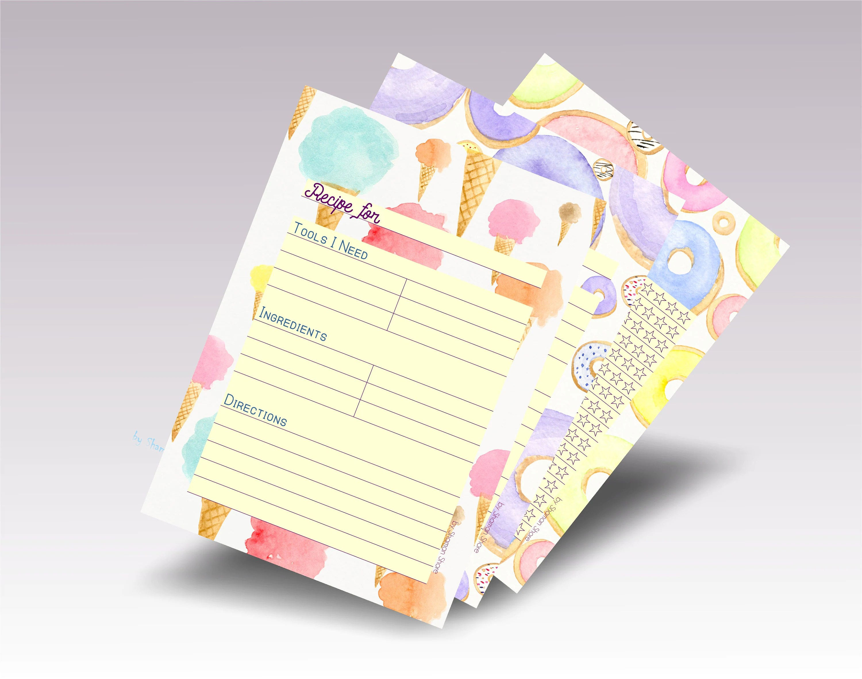 Blank Recipe Cards For Kids Recipe Template For Kids Meal
