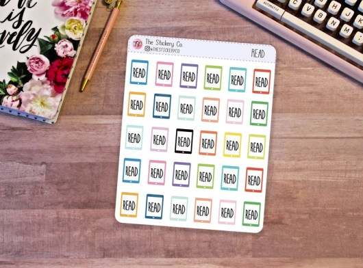 E-reader Sticker Functional Planner Stickers Tablet Sticker image