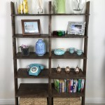 Walnut Ladder Shelf Shoe Rack 6 Shelf Bookcase Made From