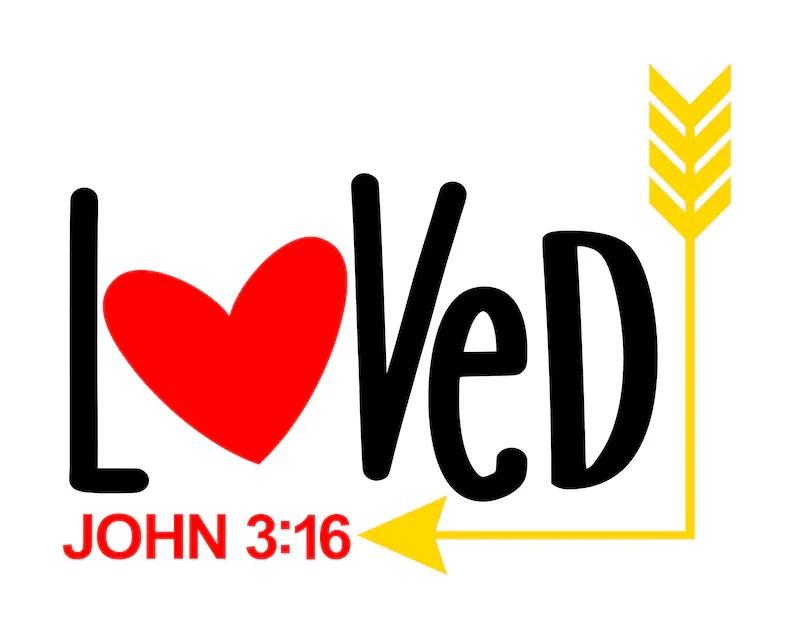 Download Loved John 3:16 SVG PNG DIgital Download | Etsy