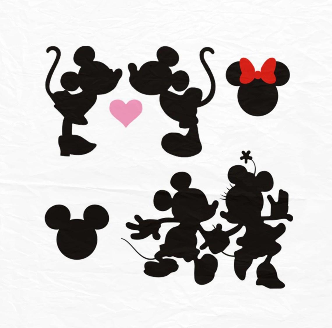 Download Minnie Mickey Kiss SVG Kiss svg Minnie Mickey Love SVG | Etsy