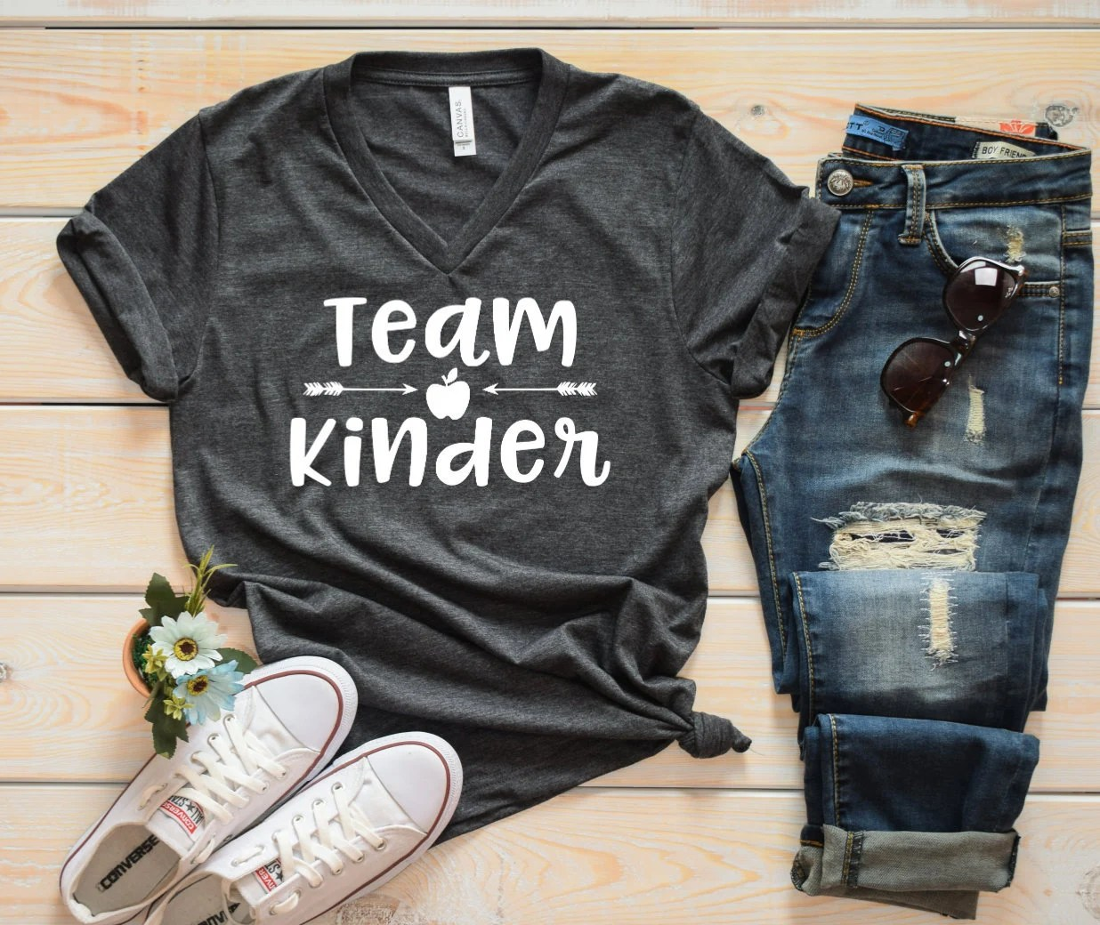 Team Kinder Grade Level Teacher Shirt Cute Teacher Shirts