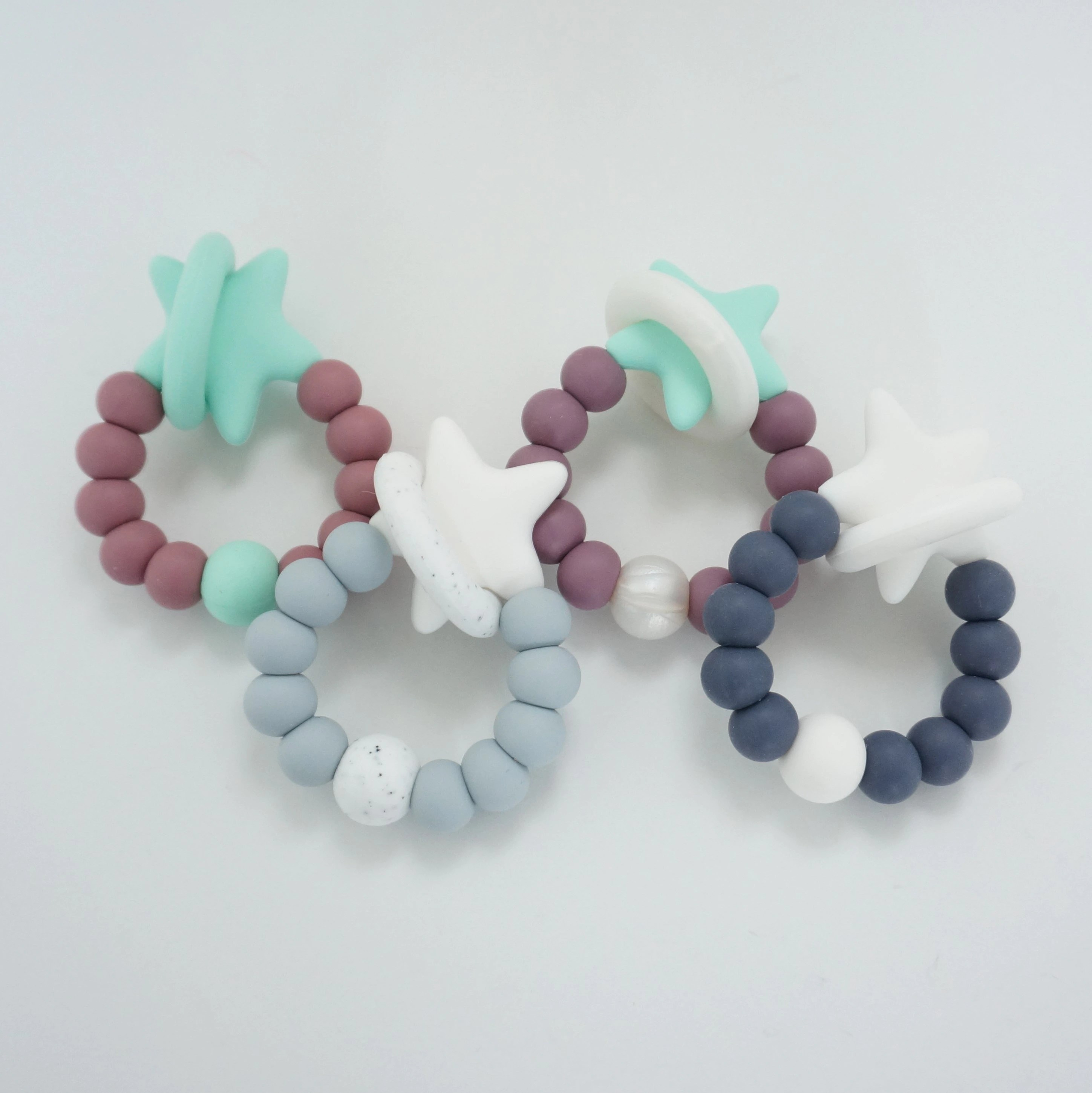 Solar Molar Teething Ring  All Silicone Teether  Star image 1