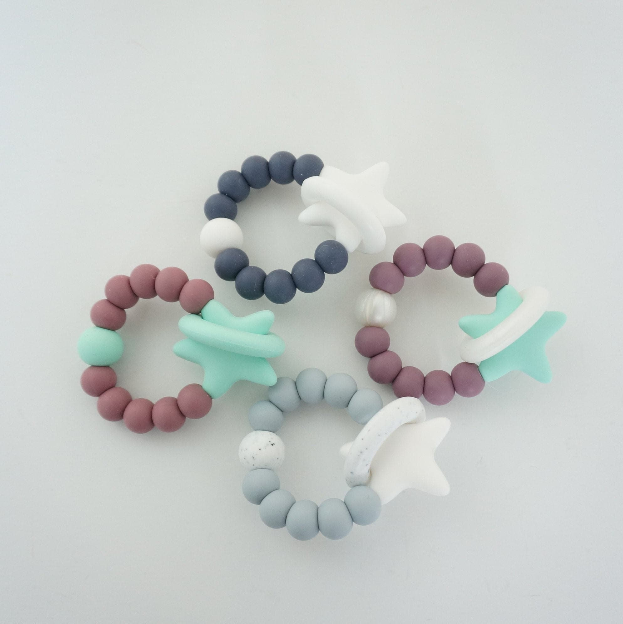 Solar Molar Teething Ring  All Silicone Teether  Star image 2