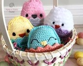 Chubby Spring Chicks Crochet Pattern