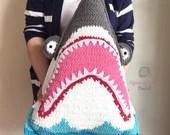 Shark Pillow Crochet Pattern