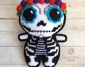 Sugar Skull Amigurumi Crochet Pattern