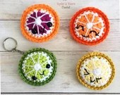 Citrus Fruit Keychain Crochet Pattern