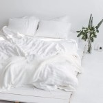White Linen Bedding Set White Duvet Cover And Pillowcases Etsy